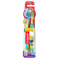 (Pack of 2) Colgate Minions Kids Manual Toothbrushes with Suction Cup, Extra Soft