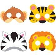 Animal Jungle Party Masks 8ct