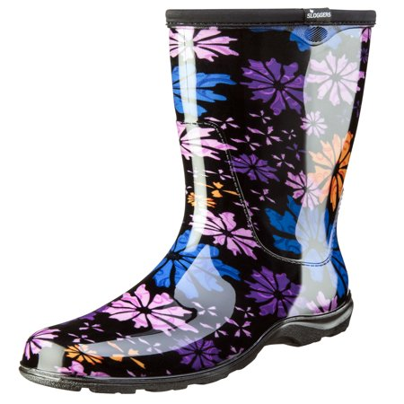 Sloggers Women's Rain & Garden Boot - Flower Power Print - 1920s Womens Boots