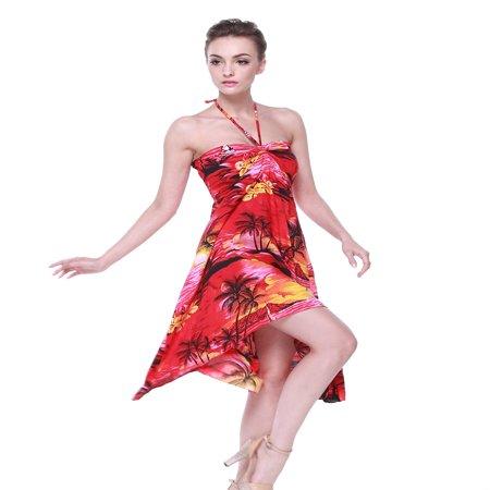 Hawaiian Butterfly Dress in Sunset - Sunset Dress