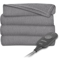 Sunbeam Electric Heated Fleece Throw Blanket, 60-Inch by 50-Inch