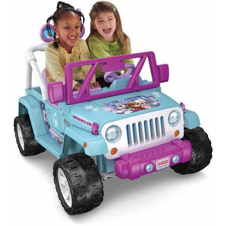 Power Wheels Disney Frozen Jeep Wrangler 12v Battery Powered Ride On