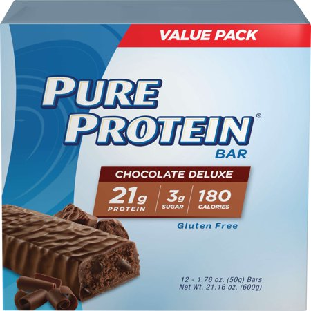 Pure Protein Bar, Chocolate Deluxe, 21g Protein, 12 (Jay Robb Egg White Protein Powder)