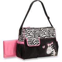 Baby Boom Duffle Diaper Bag, Zebra Print
