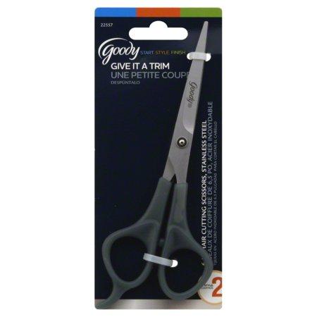 Goody Stainless Steel Scissors, Hair Trimming Scissors, 6.6