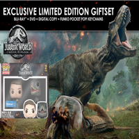 Jurassic World: Fallen Kingdom (Walmart Exclusive) (Blu-ray + DVD + Digital Copy + Funko Pocket Pop! Keychains)