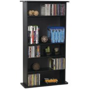 "Atlantic Drawbridge CD/ DVD Media Storage Cabinet, 7"" Depth, Flat Black Finish (Holds 132 BluRays, 108 DVDs, or 240 CDs)"
