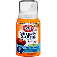 3 Pack - Arm and Hammer Simply Saline Baby Nasal Relief Mist 1.5 Ounce Each