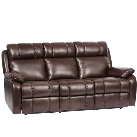 Contemporary Corner Leather Sofa (Recliner Sofa Chaise Reclining Couch Recliner Sofa Chair Leather Accent Chair Set )