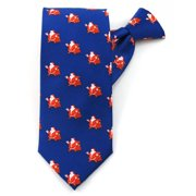 21014579879 Jolly Ole Santa Pattern X-Long Clip On Tie