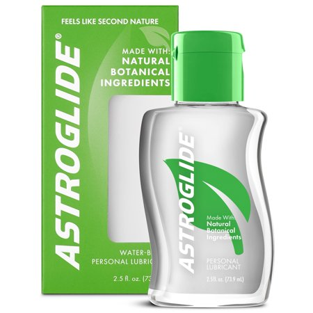 - (2 pack) Astroglide Natural Feel Botanical Personal Water Based Lubricant - 2.5 oz