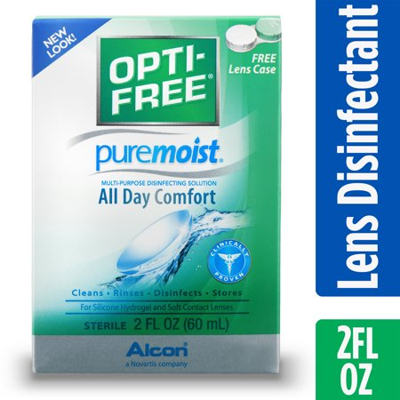 OPTI-FREE Puremoist Multipurpose Contact Lens Disinfecting Solution, 2 Fl. Oz.