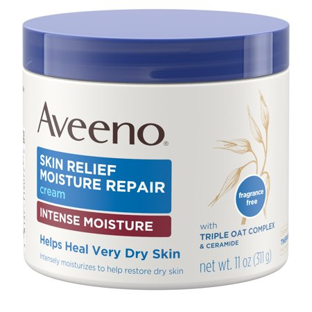 Intense Repair Smoothing Cream - Aveeno Skin Relief Intense Moisturizing Cream, Extra-Dry Skin, 11 oz