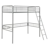 DHP Small Spaces Metal Loft Bed, Multiple Sizes and Colors