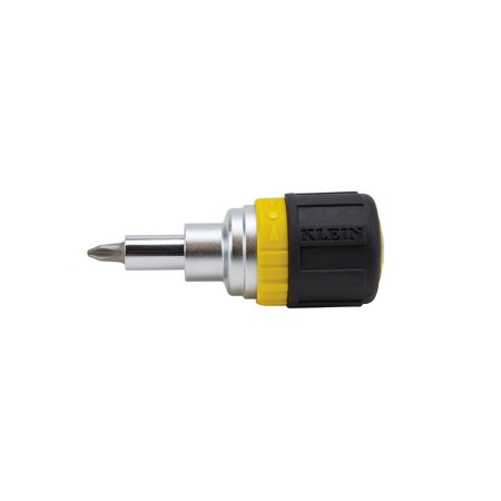 Stubby Driver (Klein Tools 32593 6-in-1 Ratcheting Stubby Screwdriver )
