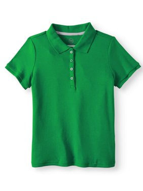 Girls School Uniform Short Sleeve Interlock Polo