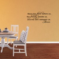 Bless The Food Before Us Vinyl Wall Decal Thanksgiving Quotes Home Kitchen Dining Room Sticker Holiday Fall Decor JR308