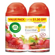 Air Wick Freshmatic 2 Refills Automatic Spray, Apple Cinnamon Medley, (2X6.17oz), Air Freshener