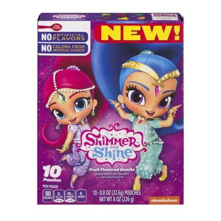Taupe Shimmer (Shimmer & Shine Fruit Flavored Snacks 10Ct Carton 10 ct 8 oz )
