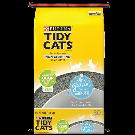 Purina Tidy Cats Non Clumping Cat Litter, Glade Clear Springs Multi Cat Litter - 30 lb. - Non Clumping Cat Litter