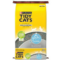 Purina Tidy Cats Glade Tough Odor Solutions Clear Springs Non-Clumping Cat Litter, 30-lb Bag