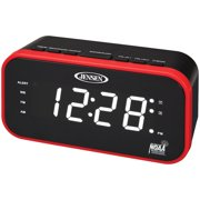 61b9a5719cb Jensen JEP-150 AM FM Weather Band Clock Radio With Weather Alert