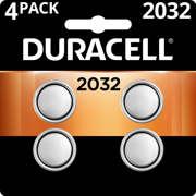 Duracell 3V Lithium Coin Battery 2032 4 Pack Batteries