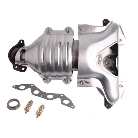 Catalytic Converter Exhaust Manifold for 2001 2002 2003 2004 2005 Honda Civic 1.7L Front (Honda Civic Pulley)