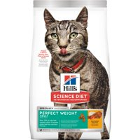Hill's Science Diet (Spend $20,Get $5) Adult Perfect Weight Chicken Dry Cat Food, 15 lb bag (See description for rebate details)