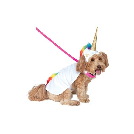 Halloween Light Up Unicorn Cape with Hood Pet Costume - Homemade Halloween Costume Ideas For Pets