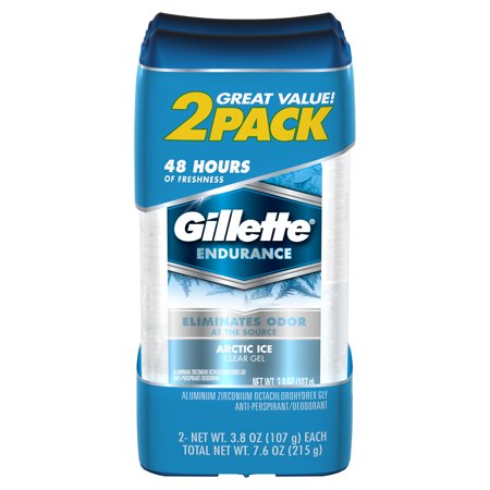 - Gillette Clear Gel Arctic Ice Antiperspirant and Deodorant Twin Pack, 3.8 oz