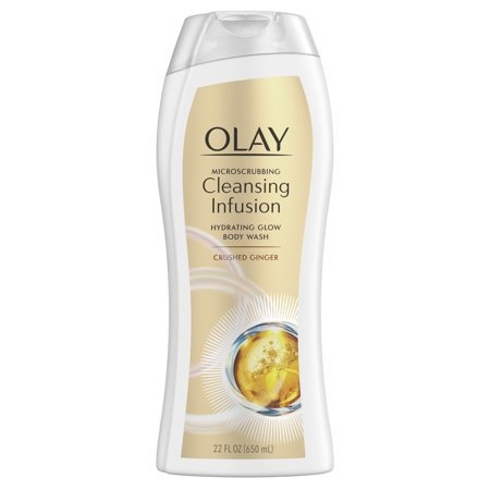 Olay Microscrubbing Cleansing Infusion Crushed Ginger Body Wash, 22