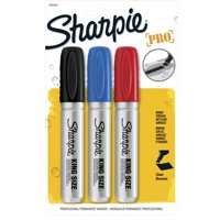 Sharpie Pro King Size Permanent Markers, Chisel Tip, Assorted, 3 Pack