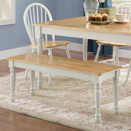Better Homes & Gardens Autumn Lane Farmhouse Solid Wood Dining Bench, Multiple Finishes Asian Inspired Wood Bench