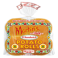 Martin's Sandwich Potato Rolls, Made with Unbleached Flour & Non-GMO Ingredients, Bag of 8