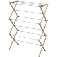 Household Essentials Pine Wood Foldable Drying Rack with 23.8' Drying Space