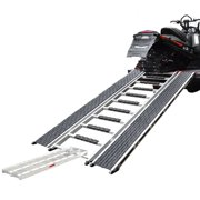 """90"""" Caliber Ramp PRO Snowmobile ATV Loading Ramp with Stud Protectors and Extension"""