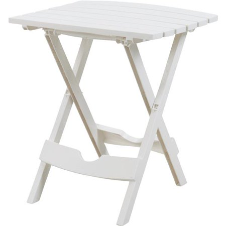 Adams Manufacturing Quik-Fold Side Table, White (00 Patio Table)