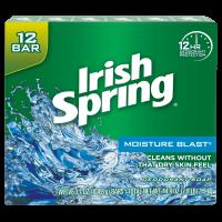 Irish Spring Moisture Blast, Moisturizing Bar Soap, 3.7 Ounce, 12 Bar Pack