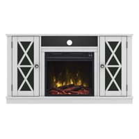 """Stanton Ridge White TV Stand for TVs up to 55"""" with Electric Fireplace"""
