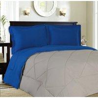 Reversible Goose Down Alternative 3 Piece Comforter and Sham Set