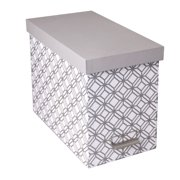 Decorative File Storage Box with Lid