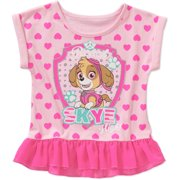 e37be2a04a5 Toddler Girl Graphic Ruffled Peplum Tee Shirt
