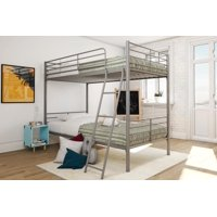 Mainstays Twin Over Twin Convertible Metal Bunk Bed, Multiple Colors