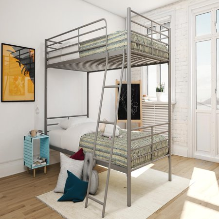 Mainstays Twin Over Twin Convertible Metal Bunk Bed