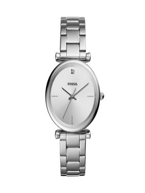 Fossil Women's Carlie Silver Tone Stainless Steel Watch (Style: ES4440)