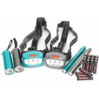 Ozark Trail 6-Piece Led Flashlight and Penlight and Headlamp Combo