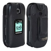 89fb4127bc2 Verizon Leather Fitted Case for Samsung Gusto 3 Cell Phone with Clip Holster  - Black