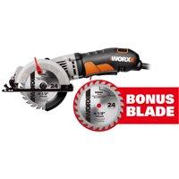 WORX 4-1/2-Inch Compact Circular Saw With Bonus Blade