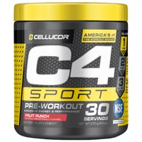 Cellucor C4 Sport Pre Workout Energy Powder, Fruit Punch, 30 Servings